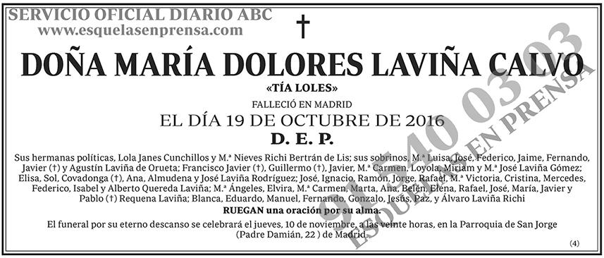 María Dolores Laviña Calvo